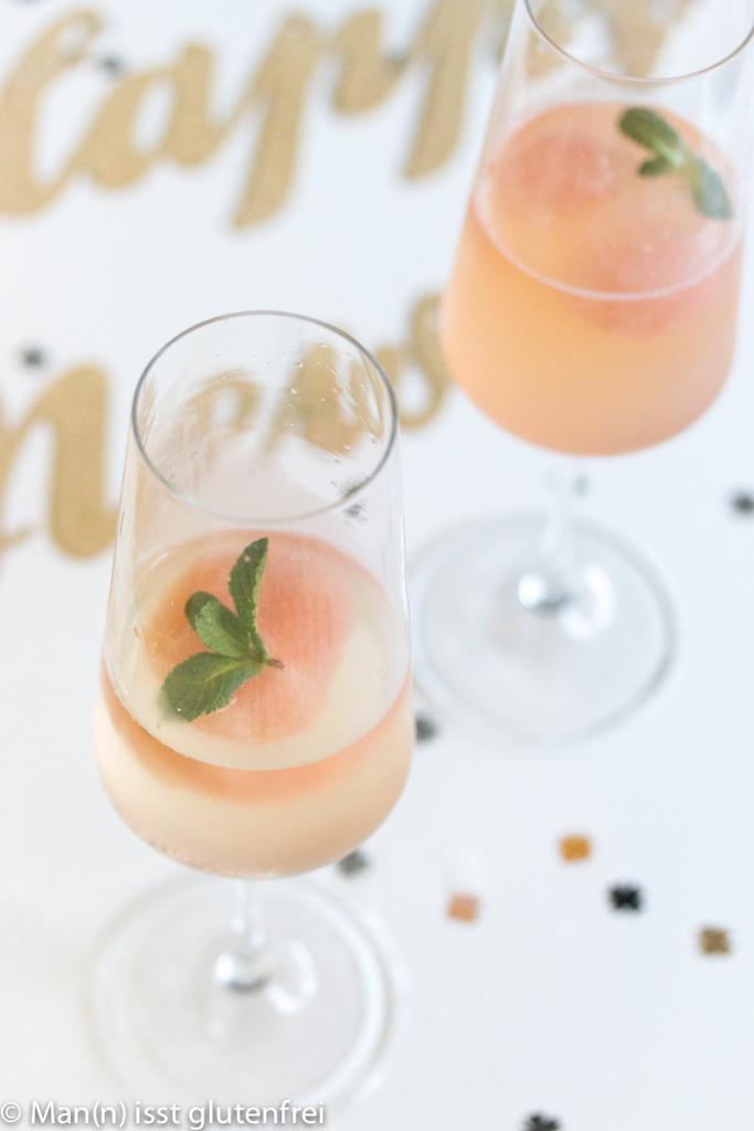 Pink Grapefruit Sorbet Champagner