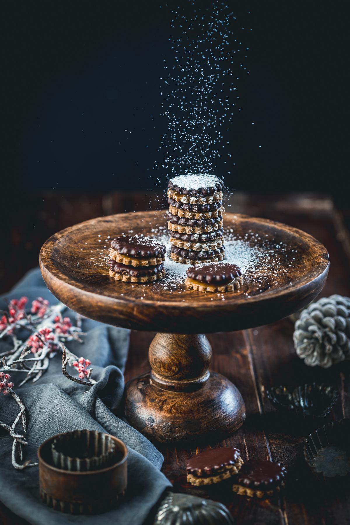 Schoko Kaffeekaramell Plätzchen - glutenfrei und laktosefrei